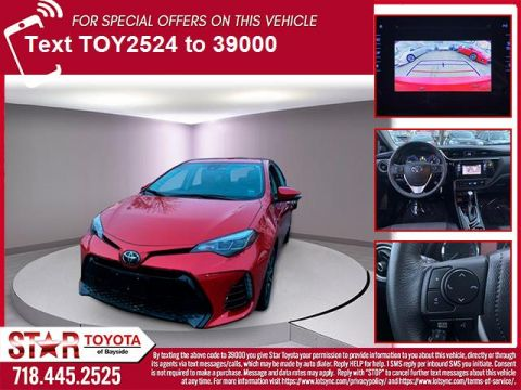 Certified Pre-Owned 2017 Toyota Corolla SE CVT Automatic (Natl)